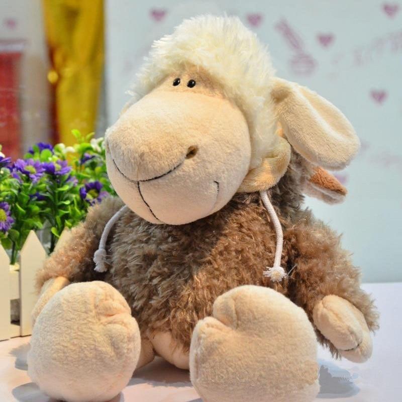 Stuffed animals plush sheep soft have love Toy's for children Lamb Dolls Dolls Sheepskins Plush Toys girlfriend gift 35cm high