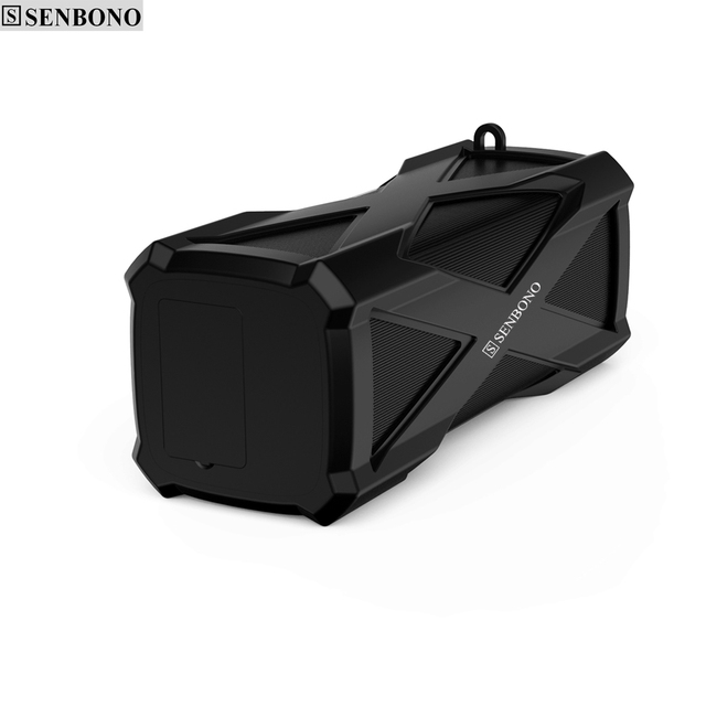 Senbono A6ミニポータブルワイヤレスbluetoothスピーカー内蔵マイクサポートバッテリ電源銀行防水fm tfカードusb