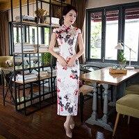 Elegant Chinese Women Satin Cheongsam Silk Party Dresses Traditional Evening Gown Modern Qipao Long Vestidos Formales