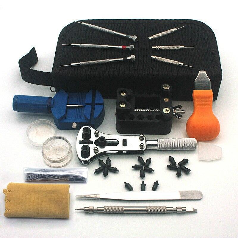 Uhr Werkzeuge Uhr Reparatur Werkzeug Kit Set Uhr Opener Link Frühling Bar Remover Werkzeuge Schraubendreher-set Link Pins Reinigung Tuch