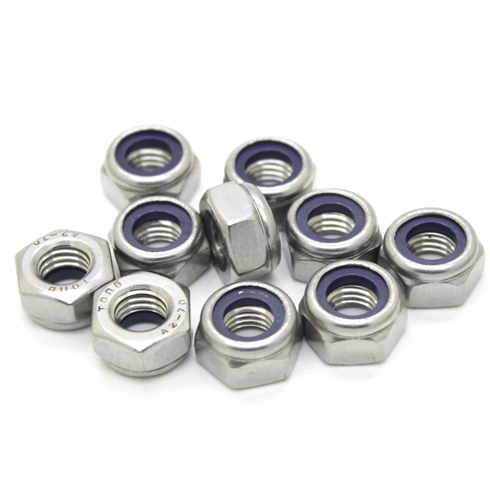 DIN985 M3 M4 M5 M6 M8 galvanized self-locking nut nylon lock nut locknut slip nut гайка самостопорная din985 m6 16шт