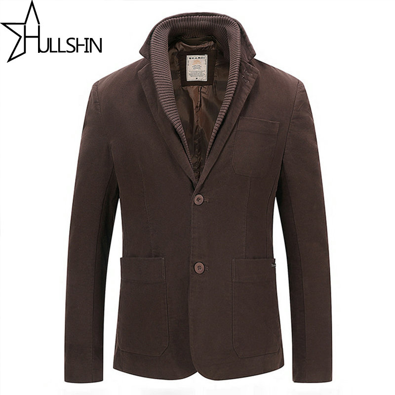 Hullshin Brown Blazer Men Floral Casual Slim Blazers 2017 Arrival Fashion Party Single Breasted Men Winter Suit Jacket HSD308