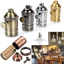E26 E27 Lamp Socket Vintage Edison Light Holder Classic Retro Edison Lamp Holder Industrial Bulb Pendants Knob Lamp Bases(China)