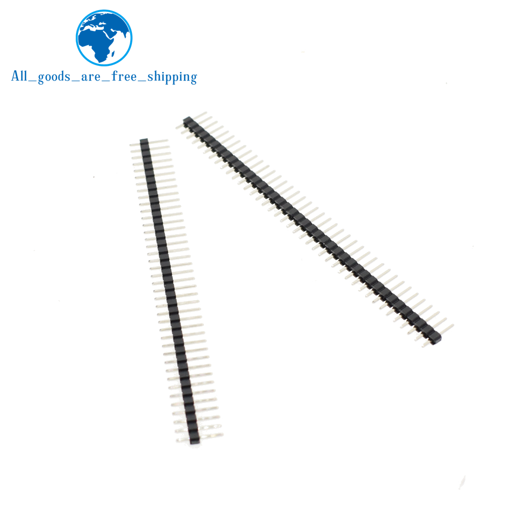 1pcs 40 Pin 1x40 Single Row Male 2.54 Breakable Pin Header Connector Strip for Arduino Black
