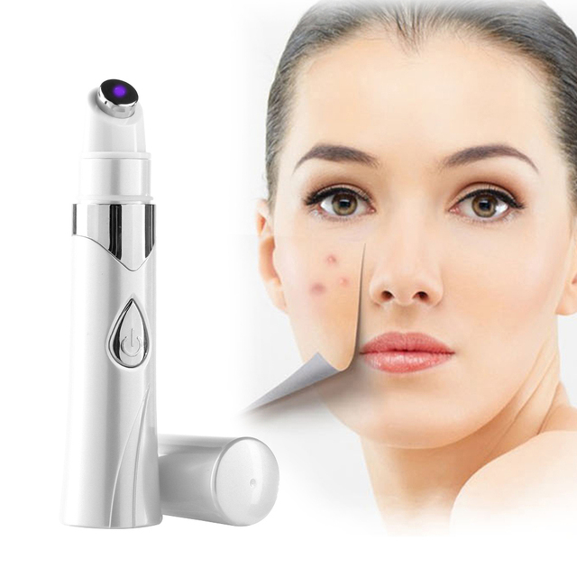 Acne Laser Pen Portable Wrinkle Removal Scar Remover Device Blue