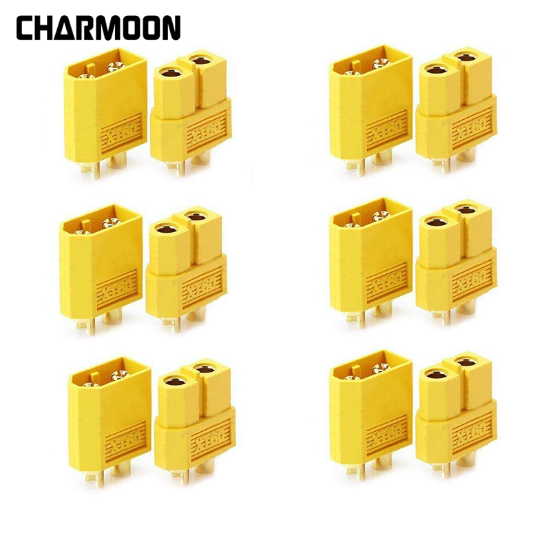 10pcs/20pcs XT60 Male To Female Type T Connector Adapter For DIY RC Model Li-Po Battery ESC Charger