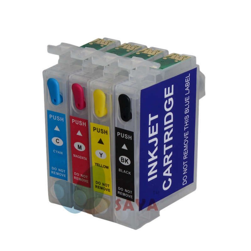92N T0921 Empty Refill Ink cartridge For EPSON Stylus T27 C91 CX4300 T26 TX106 TX109 TX117 TX119 printers with ARC CHIP 11colors 200ml empty ink cartridge with ink bag for epson stylus photo 4900 printer with arc chip