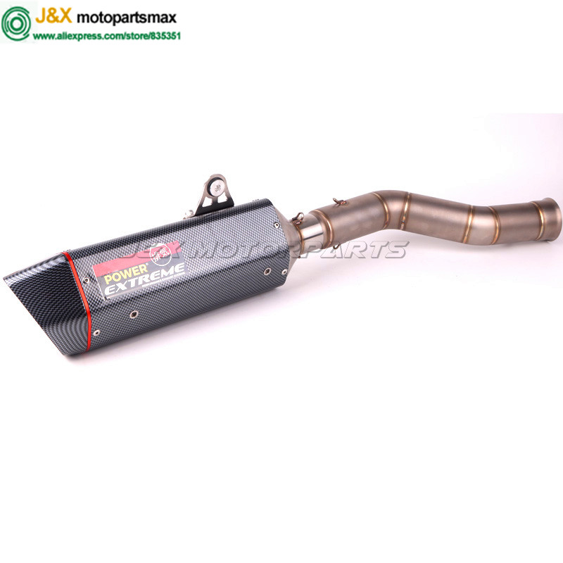 Motorcycle Exhaust Muffler Escape Middle Link Contact Pipe Full System Slip On For yamaha YZF 1000 YZF1000 YZF-R1 R1 2009-2014