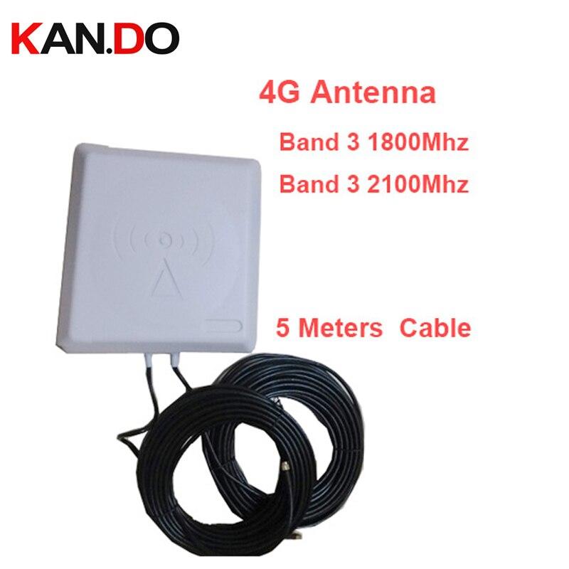 9dbi gain 4g antenne de téléphone portable 1800 mhz-2600 mhz antenne LTE 4g amplificateur LTE antenne Directionnelle 4g bande 3 bande 7