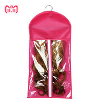 Portable Hair Wig Extensions Package Suit Case Non-woven Wig Storage Bag Clothing Holder For Women 2018 New Arrival(China)