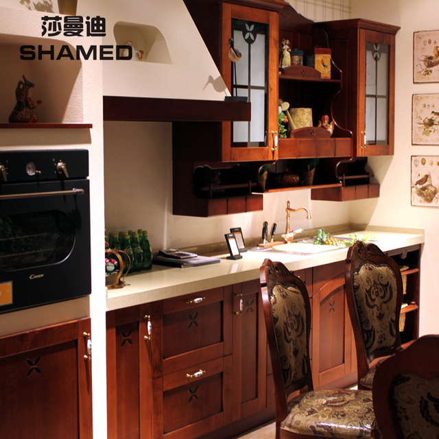 Kitchen cabinet classical fashion yingtaomu whole kitchen cabinet kitchen customize