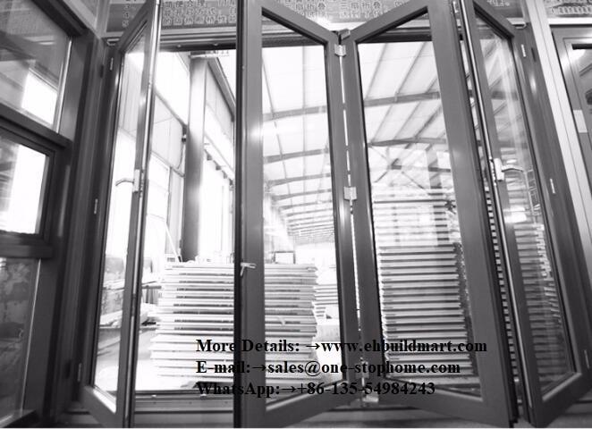External Aluminum Laminated Bi-fold Door/folding Door Panel,Outdoor Dividers Soundproof Bi Fold Door,sliding Door,indoor Doors