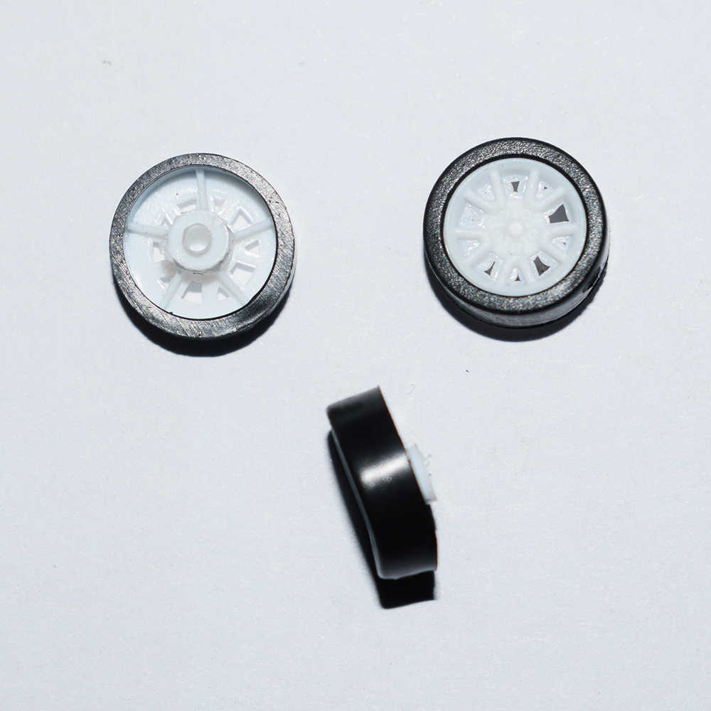 10/100/1000 pcs 1.5x11mm mini rubber plastic Wiel yuanmbm toywheel Speelgoed Accessoires Technologie Model onderdelen/rc/baby speelgoed 111.5AH