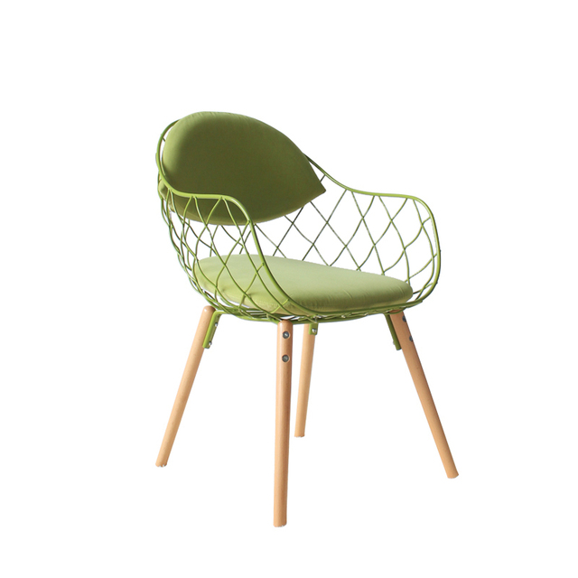 IKEA Personalized Promotional Minimalist Modern Scandinavian Wire Chair  Dining Chair Cushion Demolition Casual Computer Chair