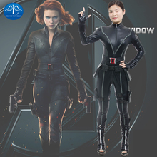 MANLUYUNXIAO The Avengers Black Widow Costume Natasha Cosplay Costume For Women Bodycon Sexy Jumpsuit Movie Role