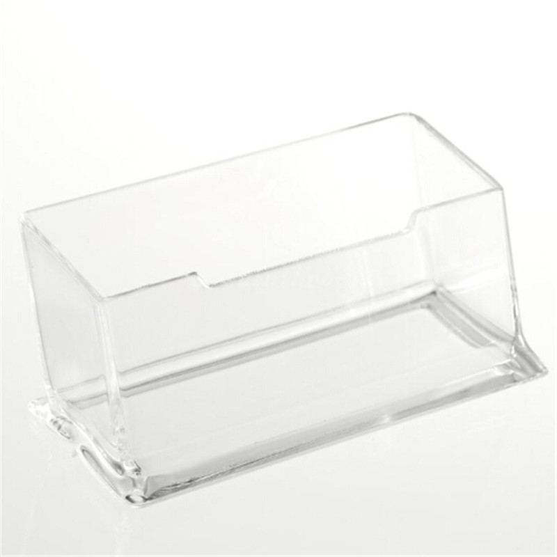 1PC Desk Shelf Box Storage Display Stand Acrylic Plastic New Clear Desktop Business Card Holder