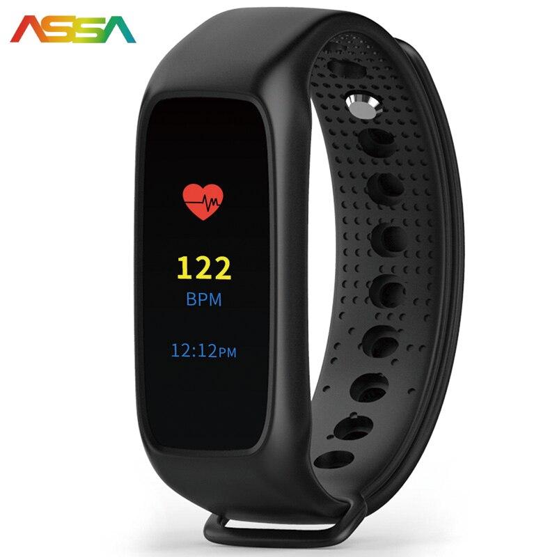 imágenes para Pulsera de moda Pulsera Inteligente Monitor de Ritmo Cardíaco Reloj Deportivo correr Gimnasio Rastreador Reloj Para IOS Inteligente Android Teléfono