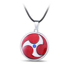 JM Naruto Uchiha Itachi Kaleidoscope Pendants Necklaces for Women 2017 New Design Fashion Jewelry Red Necklace