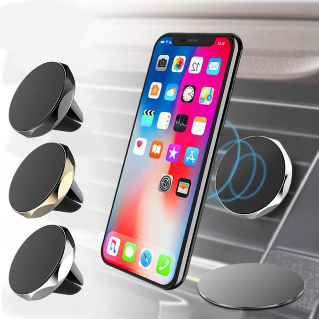 JUSFYU Universal Magnetic Car Phone Holder 360 Degree Rotatable Magnetic Air Vent Mount Car Holder Magnetism Mobile Phone Holder