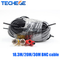 Techege 18.3M/20M/30M BNC cable Power video Plug and Play Cable for CCTV Camera and DVR
