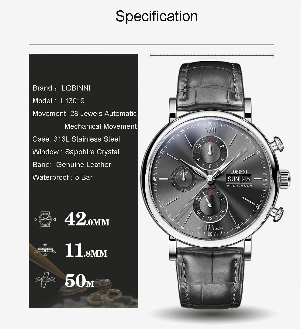 HTB1DS1.VmzqK1RjSZFpq6ykSXXaU Switzerland LOBINNI Men Watches Luxury Brand Perpetual Calender Auto Mechanical Men's Clock Sapphire Leather relogio L13019-6