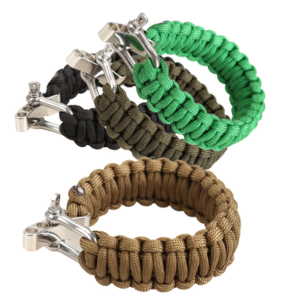2019 High Quality Adults Adjustable Parachute Cord Tough 7-Strand Rope Bracelet Outdoor Sports Camping Hiking Survival Lifeline
