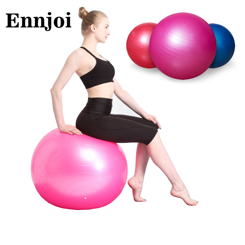 5 Colors 75CM PVC Utility Yoga Balls Pilates Sport Fitness Yoga Balls with a Pump for Fitness Appliance Exercise Home