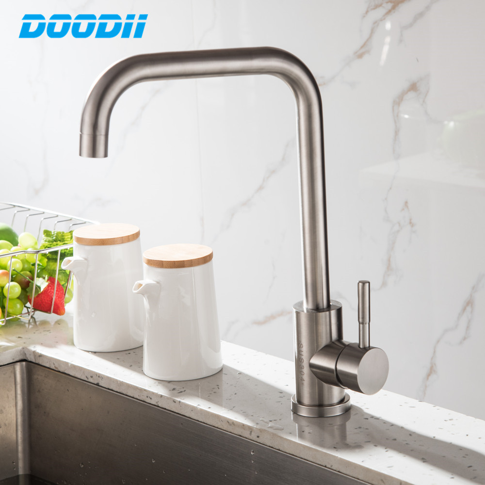 Kitchen Faucet With Filtered Water Stainless Steel Faucet Mixer Tap Drinking Faucet Kitchen Sink Tap Torneira Cozinha DOODII