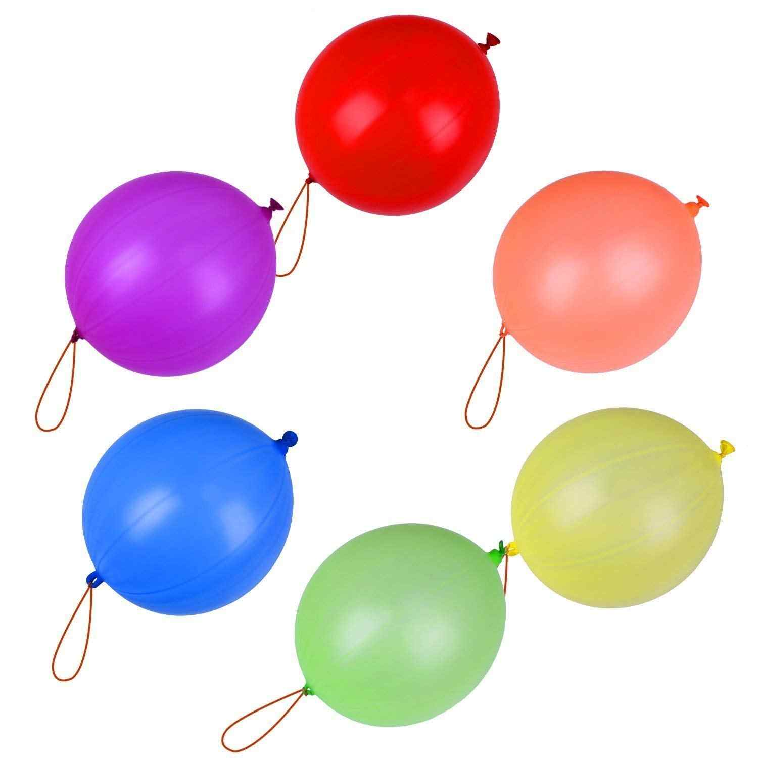 20Pcs Hand Pat Latex Punch Balloons Kids Toy For Wedding Party Love Ball Decoration Assorted Color