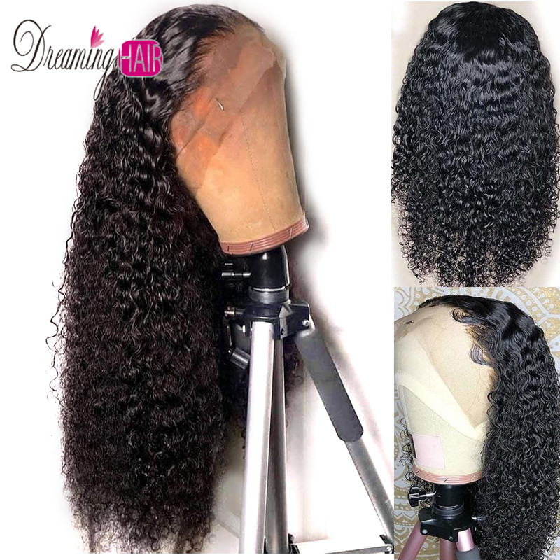 13x6 Lace Front Human Hair Wigs For Black Women Remy Brazilian Jerry Curly Lace Front Wig Pre Plucked With Baby Hair Dreaming