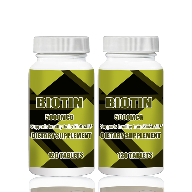 Купить с кэшбэком BIOTIN  500MCG 120PCS X 2B  Altogether 240pcs Promotes Healthy Hair and Strong Nails  Supports Cellular Energy Production