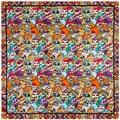 90 cm * 90 cm nueva bufanda de dibujos animados gato de la señora de la bufanda de seda toalla