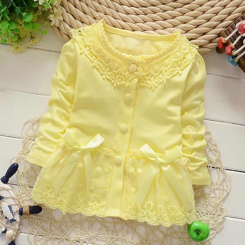 IENENS 1 pieza primavera niña encaje abrigos bebé niño Infante camisas Tops ropa niños niñas algodón abrigo niños mangas largas blusas
