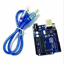 1set UNO R3 MEGA328P ATMEGA16U2 for Arduino Compatible + USB Cable Free Shipping