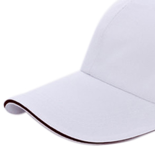 Large Department e-Stores  IMC Plain Baseball Cap Mens Ladies Adult Hat Summer-White