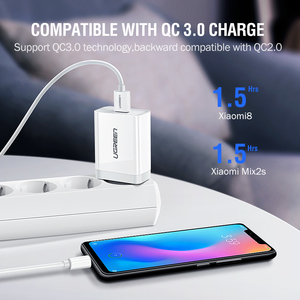 Image 3 - Ugreen USB Charger Super Fast Charger Quick 3.0 Phone Charger EU Adapter Charging for Huawei Xiaomi iPhone X 8 7 Samsung s9