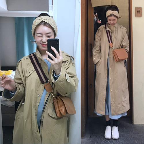 Autumn Winter Korean Loose Fashionable Long Windbreaker Plus Size   Trench   Coat for Women Zipper Front Casual Outwer Female Coats