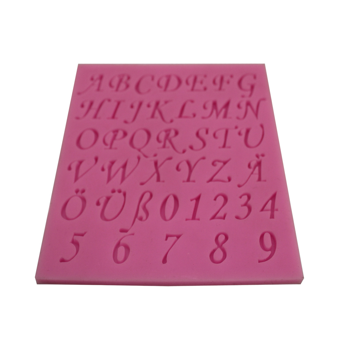 2015 New Silicone Alphabet Letters Numbers Mold Fondant Chocolate Sugar Mould Cake Decorating high quality