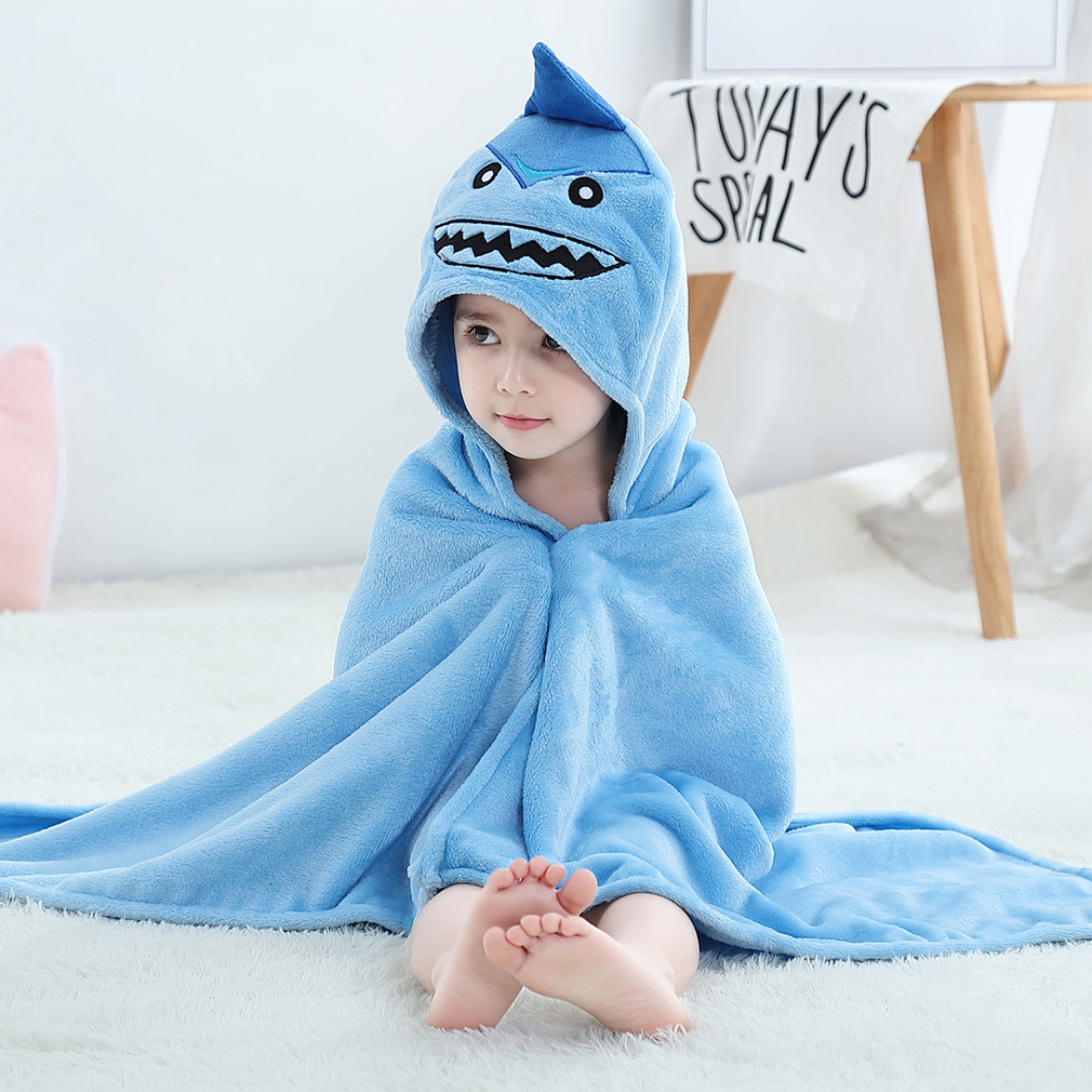 Kids Bathrobe Animal Hooded Beach Towel Bathrobes For Boys