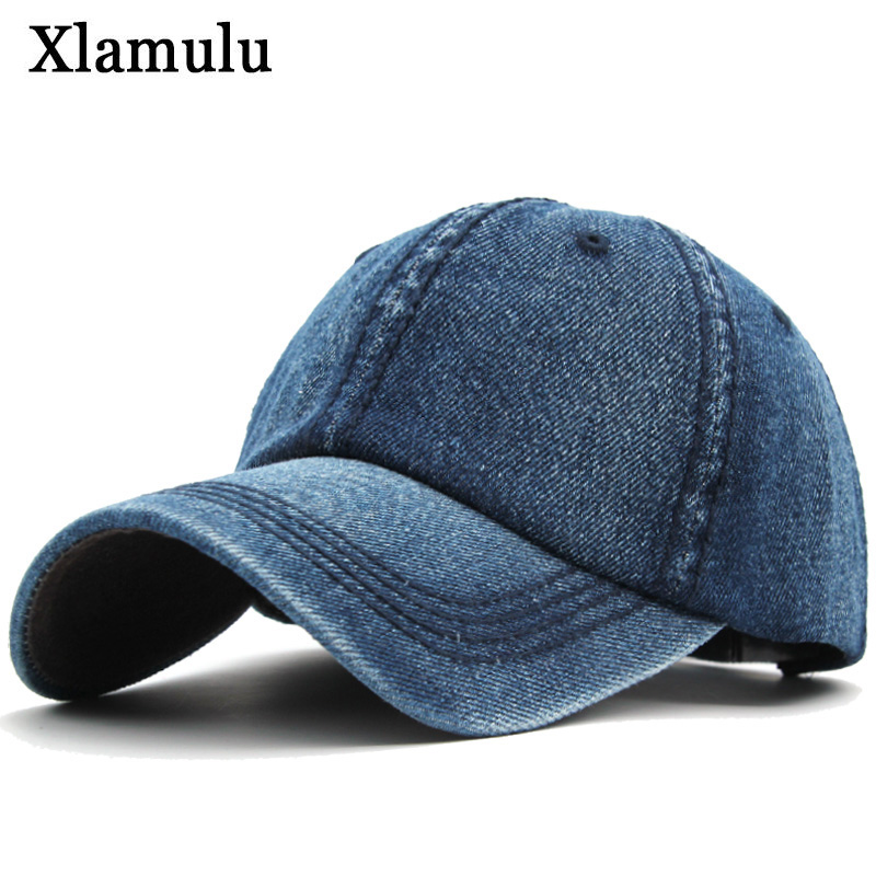 Xlamulu Women Baseball Caps Hats For Men Denim Jeans Band Snapback Caps Casquette Plain Bone Hat Gorras Men Casual Dad Cap Hat