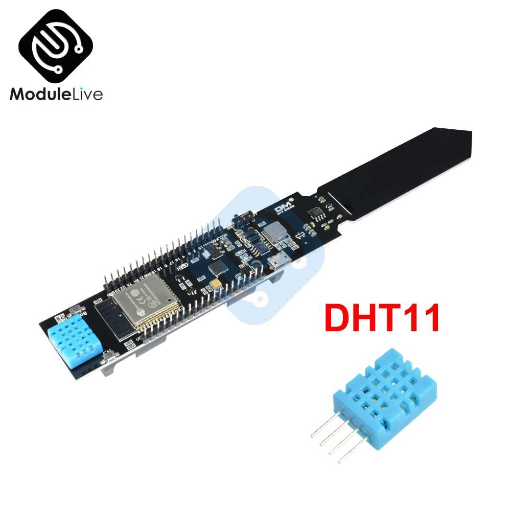 ESP32 CP2104 DHT11 WiFi Bluetooth Soil Temperature Humidity Sensor Module For Arduino For Nodumcu 4PIN 4P 18650 Battery Shield