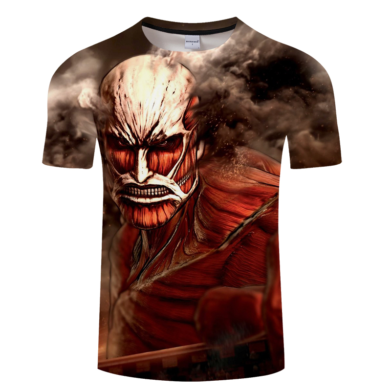 Summer men hip hop 3d print t shirt, horrible skull print t shirt large size s-6xl