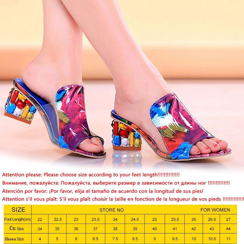 KarinLuna 2019 brand Big size 41 elegant crystals chunky Heels Summer women s Shoes Woman Sandals KarinLuna 2019 brand Big size 41 elegant crystals chunky Heels Summer women's Shoes Woman Sandals leisure Shoes women slippers