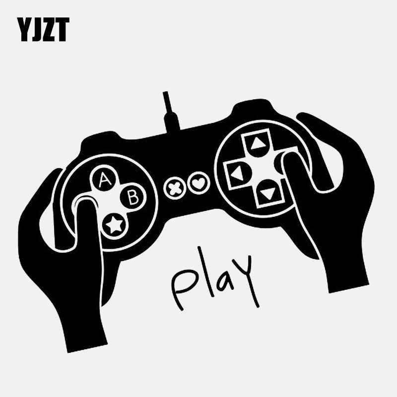Фото YJZT 13 6 см * 10 мультипликационный Видео игровой джойстик геймерская Наклейка