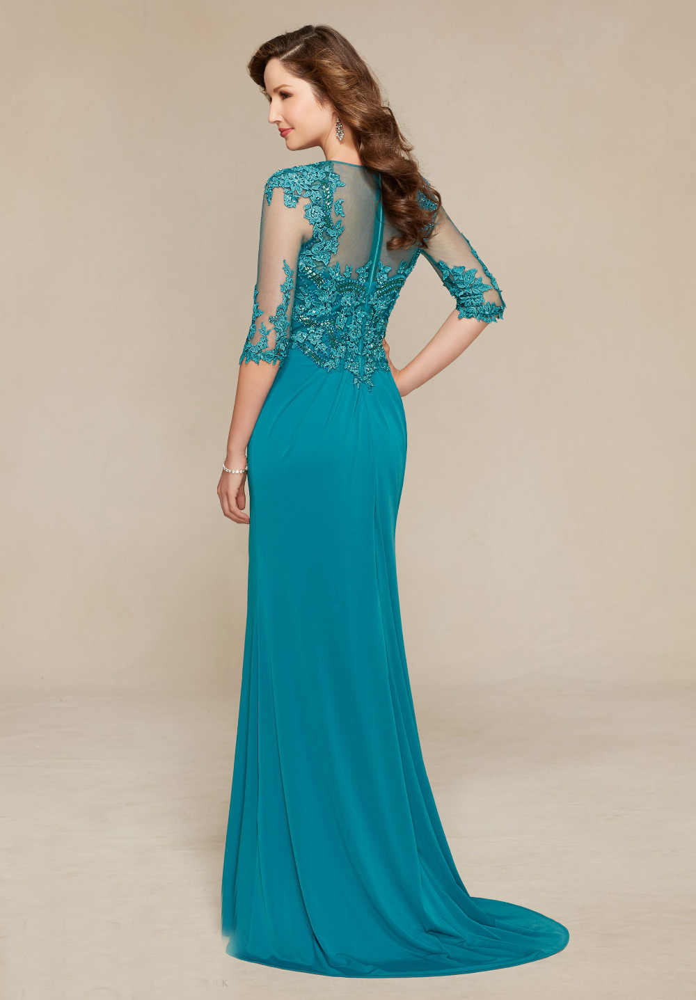 ... Mother Of The Bride Dress 2017 Lace Beaded for Weddings Half Sleeves  Groom Godmother Dresses Formal ... 260fe1ca074e