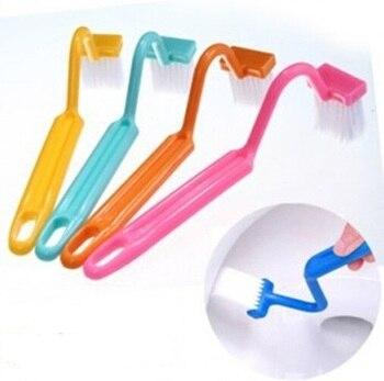 Портативная щетка для туалета, 1 шт., в японском стиле, с ручками, для домашней уборки, щетка для чистки туалета, v-тип, изогнутая, ок 0158