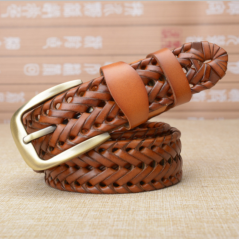 Pin Buckle Woven Knitted Quality Belt 6