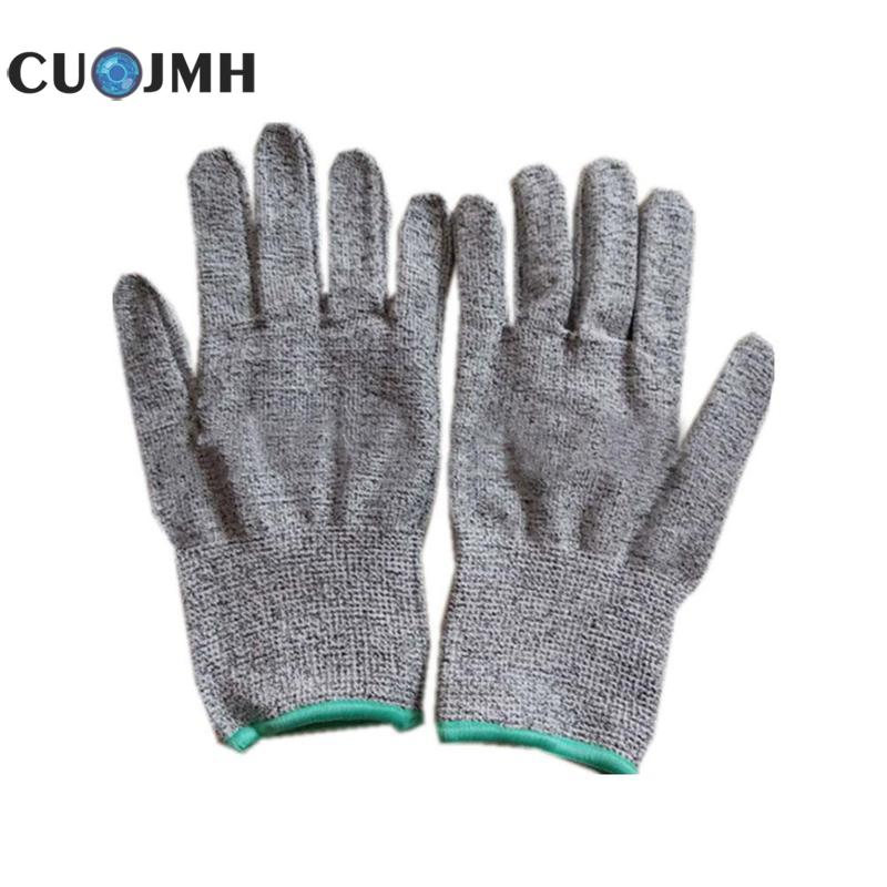 1 Pair Grade 5 Hppe Cut-proof Gloves Food Grade Cut-proof Wear-resistant Woodworking Slaughter Labor Insurance Gloves high quality cut proof labor gloves breathable protective gloves 1 pair wear resistant anti slip nitrile coating knitted gloves