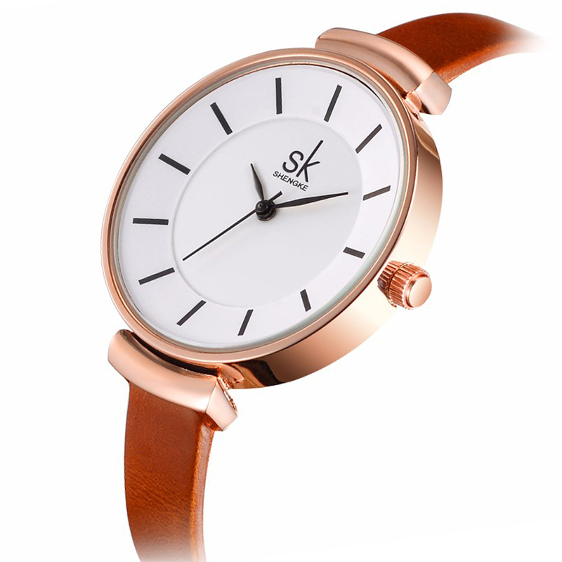 New Brand Fashion Women Dress Watch Casual Leather Wrist Watches Ladies Quartz Watches Relogio Feminino Clock 2017 2016 new fashion geneva women watch diamonds dress ladies casual quartz watch leather wrist women watches brand relogio feminino