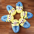 Anime Cartoon Despicable Me Cotton Slippers Minions Plush Shoes 3D Eyes Home Indoor Winter Slippers Zapatilla Casa Stuffed Toys